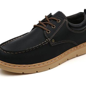 Newest Fashion Shoes Men Casual Shoes Spring Autumn Breathable Lace Up Male Oxfords Shoes Moccasins Working Shoes