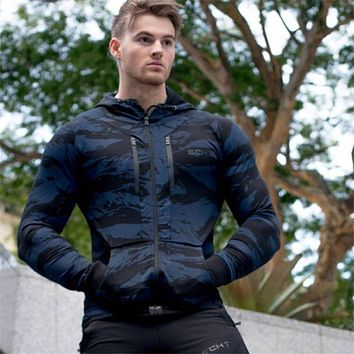 New Men Cotton Camouflage Hoodies Sweatshirt Spring Style Gyms Fitness Hooded Pullover Man Casual Sportswear Brand Clothing