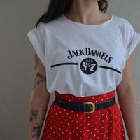 Jack Daniels Crop Top | Jack Daniels Womens | Womens Free Size Shirt | Cut Off Shirt