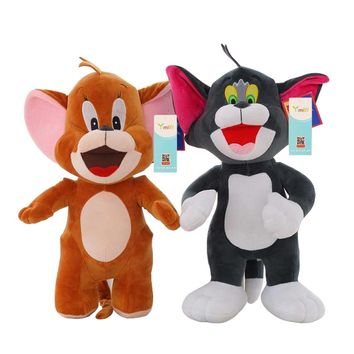 New Arrival 30cm Polpular Cartoon Plush Toys Cute Baby Dolls Cat Tom and Jerry Mouse Gifts for Children