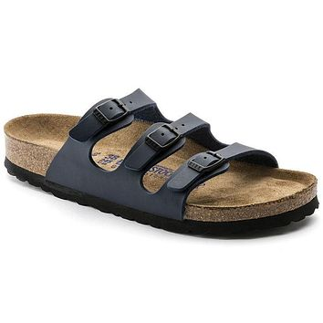 Birkenstock Florida Soft Footbed Birko Flor Blue 0554711/0554713 Sandals - Best Deal O