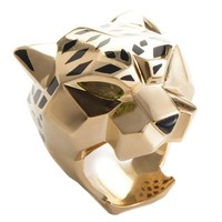 Cartier Panthere Peridot and Onyx Gold Ring