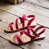 Fate Strappy Sandal, Red