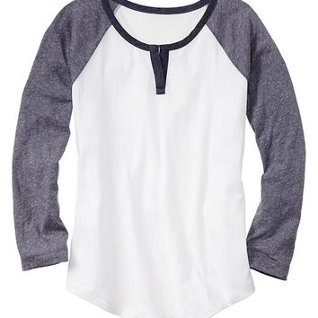 Gap Women Split Neck Baseball Tee