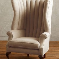 Linen English Fireside Chair