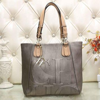 DCCKJG8 CH Carolina Herrera Women Leather Shoulder Bag Satchel Tote Handbag Crossbody