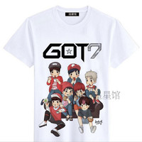 got 7 got7 shinee kpop clothes ulzzang harajuku style korean k-pop k pop bts exo bigbang harajuku shirt korean style rock 4