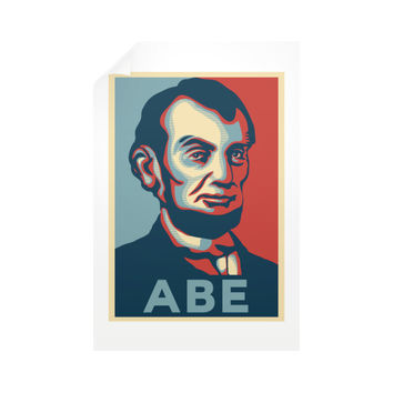 """ABE Lincoln ""Hope"" Design"" Vertical Wall Decals"