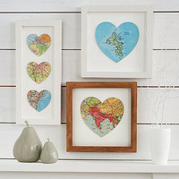 bespoke map heart by bombus | notonthehighstreet.com