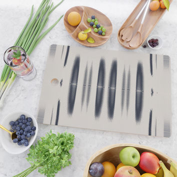 Almost Cozy glitch Cutting Board by duckyb