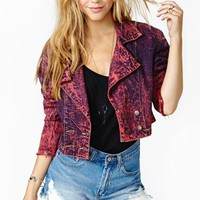 Hot Acid Cropped Denim Jacket
