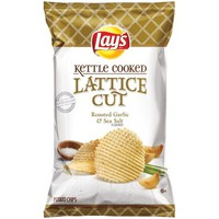 Lay's® Kettle Cooked Lattice Cut Roasted Garlic & Sea Salt Potato Chips 7 oz. Bag - Walmart.com