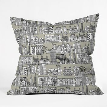 Sharon Turner New York Linen Throw Pillow