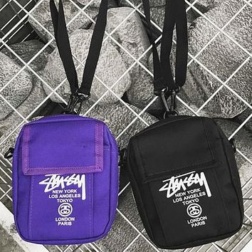 Stussy Fashion Women Men Satchel Shoulder Bag Crossbody