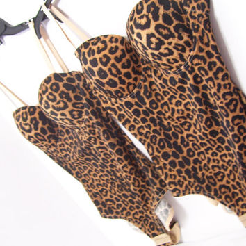 Convertible Changeable Leopard Lingerie Shapewear Body Suit  Body Shaper Teddy Wear The Leopard Has You Covered
