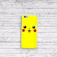 Pokemon Pikachu Cute Face iPhone 5 5c 6 6plus and Samsung Galaxy S5 Case