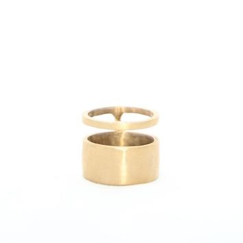 Band and Cuff Ring -