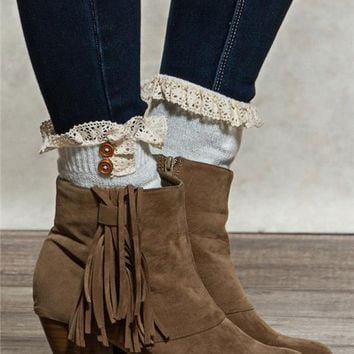 Pointelle Boot Cuffs