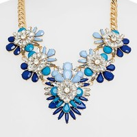 Cara Stone & Crystal Bib Necklace