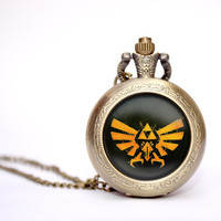 Legend of Zelda Triforce pocket watch