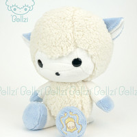 Cute Bellzi® White w/ Blue Contrast Sheep Stuffed Animal Plush - Bell