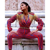 Fashion Striped Jumpsuit JS11