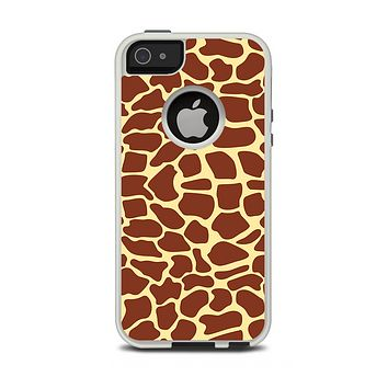 The Simple Vector Giraffe Print Apple iPhone 5-5s Otterbox Commuter Case Skin Set