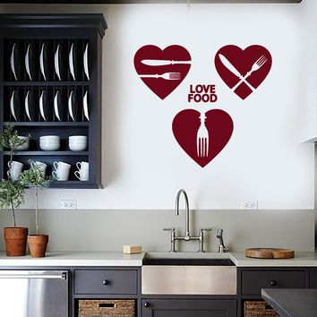 Vinyl Wall Decal Kitchen Decor Food Restaurant Cafe Chef Cook Stickers Unique Gift (ig4190)