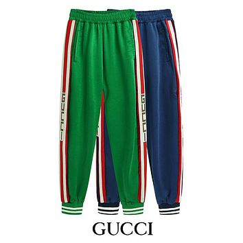 GUCCI Woman Men Fashion Sweatpants Pants Trousers