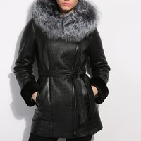 jacket women's winter Genuine Leather women Leather clothing Good quality fur coats coat sheepskin coat fox fur collar