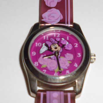Disney Minnie Mouse Pink Roses Watch