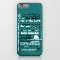 Supernatural - Castiel Quotes iPhone & iPod Case by Natabraska
