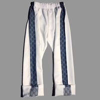 Gucci Fashion Blue Denim Splicing Pant