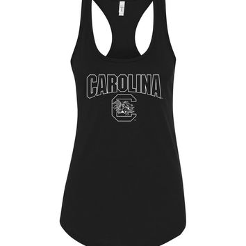 Official NCAA University of South Carolina Fighting Gamecocks USC COCKY SC Next Level Racerback Tank - SC001