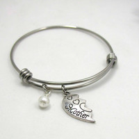 Mother Bangle Bracelet - Adjustable Bangle -  Charm Bangle - Mother Charm Bracelet - Expandable Bangle Bracelet - Mother's Day Gift