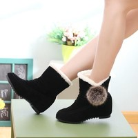 Hot Deal On Sale Height Increase Winter Flat Boots [11302552084]