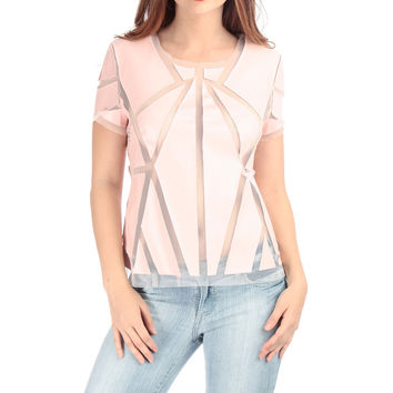 Geometric Cut Out Mesh Top