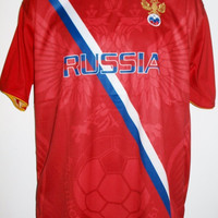 "Russia Country Soccer Jersey ""One Size"" = Athletic Men's Large by Drako"