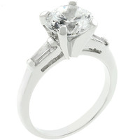 Classic Triple White Engagement Ring