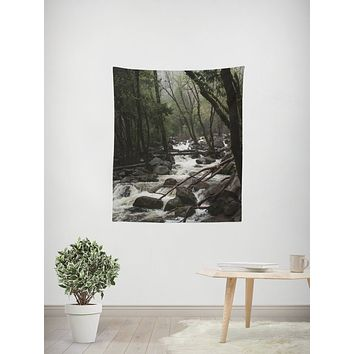 Yosemite Foggy Forest Wall Tapestry