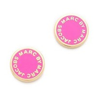 Marc by Marc Jacobs Enamel Logo Disc Stud Earrings | SHOPBOP