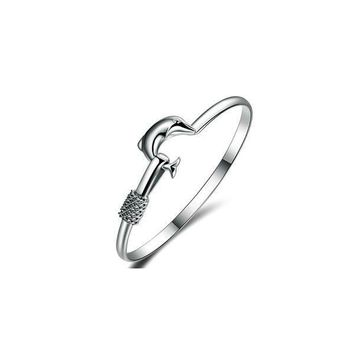 Dolphin Simple Love Bangle
