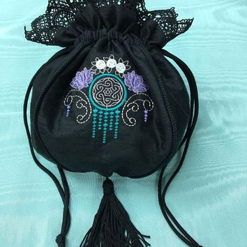 Art Deco Black Reticule Purse