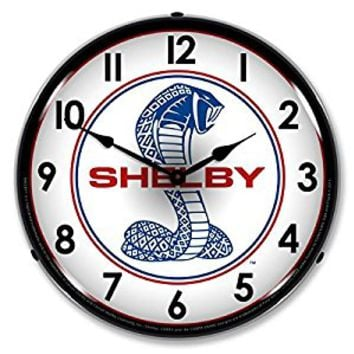 "Collectable Sign and Clock SA1106318 14"" Shelby Cobra 1 Lighted Clock"