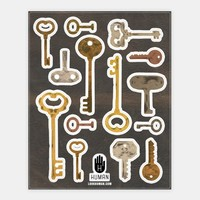 Antique Key Stickers