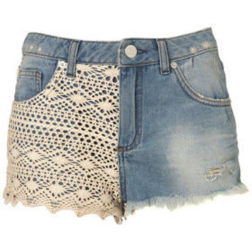 MOTO Crochet Hotpants - Denim Shorts - Shorts  - Clothing