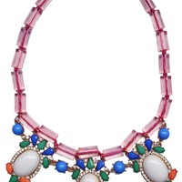 Jewel Fantasy Necklace - White & Pink