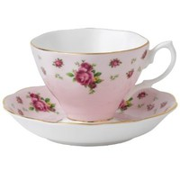 New Country Roses Pink Cup and Saucer