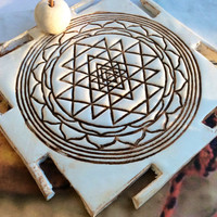 Sri Yantra Incense Holder, Incense Burner, India Decor, Yoga Decor