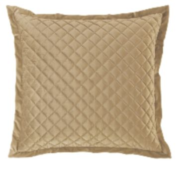 Cowgirl Kim Luxurious Quilted Oatmeal Euro Shams~ Shams Only